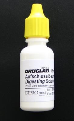 DIPRO DRUGLAB® Aufschlusslösung für die Substanztestung von THC und Opiate, 1 x 10 ml