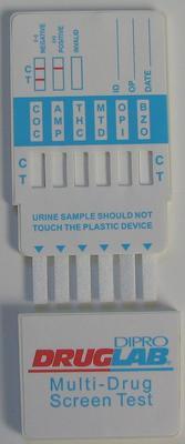 DIPRO DRUGLAB® MULTI DIP PANEL Multi 6/1 (BZD, AMP, THC, MOP/OPI, COC, mAMP), 5x1 Test