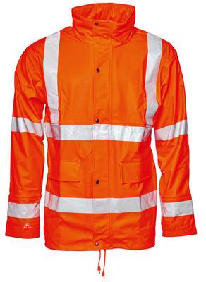 026600R-030 Jacke PU mit Futter Warn-Orange