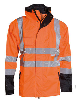 086100R-033 Jacke Warn-Orange/Schwarz (2in1)