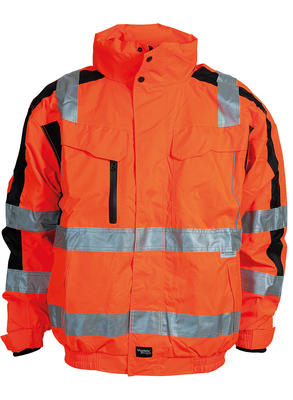 086101R-033 Pilotenjacke Warn-Orange/Schwarz