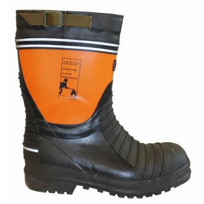 Feuerwehrstiefel, schwarz/orange