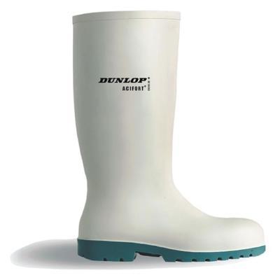 Dunlop Safety-Stiefel,weiss,Stahlkappe
