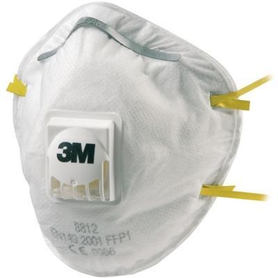 8812 3M-Feinstaubmaske FFP1 aus Vliesstoff, Ausatemventil, Gummibänder