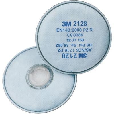 2128 3M-P2R Partikelfilter mit Aktivkohle + Schutz gegen organ.und saure Gase/Dämpfe