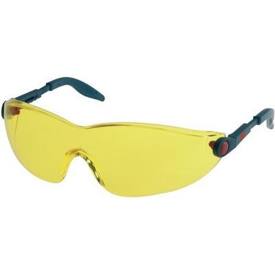 2742 3M Schutzbrille AS/AF/UV, PC, gelb getönt, einstellb. Bügellänge und -neigung, softe Bügelenden