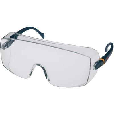 2800 Schutzbrille AS/UV, PC, klar, einstellbar, kratzfest, ideal als Überbrille für Brillenträger