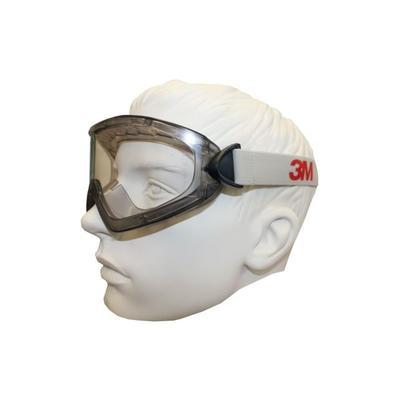 3M 2890 Vollsichtbrille, AS/AF/UV, PC, mit Belüftungsschlitz, verstellbare Gelenke