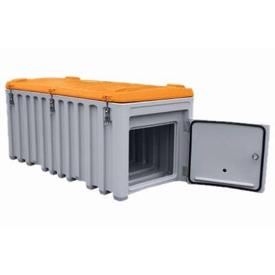 CEMbox, grau/orange, 750 l, Seitentür
