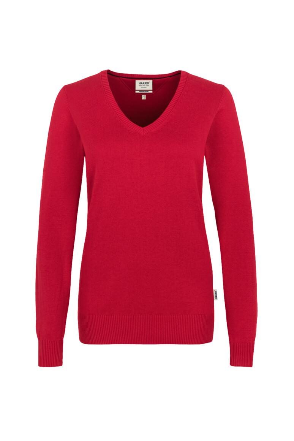 133-Damen-V-Pullover Premium-Cotton