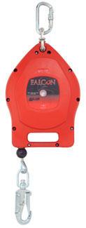 15 m Falcon SRL SS, Edelstahlseil, Kunststoffgehäuse, Revisionsfrei