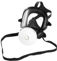 Panoramaske aus EPDM, schwarz, mit gegen Chlor und Lösemittel resistenter Sichtscheibe