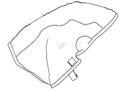 164009 Halsschutz aus Tecaweld, lang, schwarz