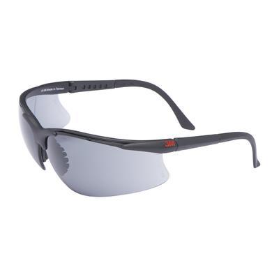 2751 Schutzbrille AS/AF/UV, PC, grau getönt, einstellbare Bügellänge, weicher Nasensteg