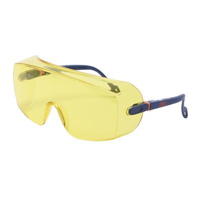 2802 Schutzbrille AS/UV, PC, gelb getönt, einstellbar, ideal als Überbrille für