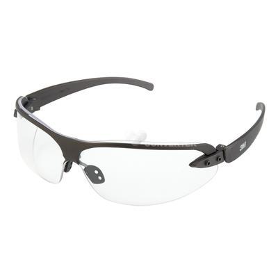 1200E Schutzbrille AS/AF/UV, PC, klar, leicht, Rahmen schwarz, weicher Nasenbügel,