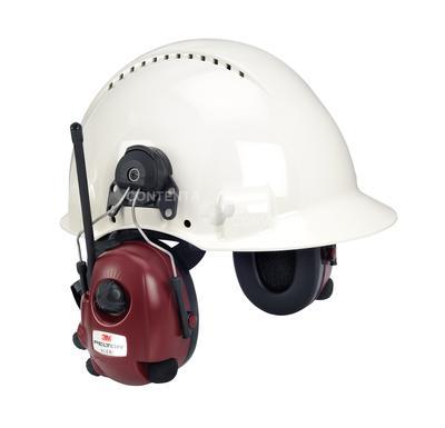 Alert Gehörschutz AM/FM Radio, stereo, Umgebungsmithören, Helmversion SNR=32 dB, bordeaux