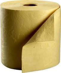 Chemikalienbindevlies, Tücher, SM, HW, 80 x 50 cm cm, gelb