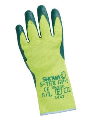 Aramid-Schnittschutzhandschuhe SHOWA mit grüner Nitril-Teilbeschichtung, Elaststulpe