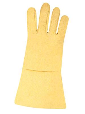 Hitzeschutzhandschuhe aus Aramid-Gewebe, Molton- futter, 35 cm lang