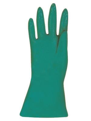 Grüne, mittelschwere Nitril-Schutzhandschuhe MAPA, 32 cm lang