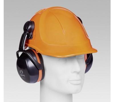 Helmgehörschutzkapseln HELLBERG aus Kunst- stoff, Halterungen und Bügel