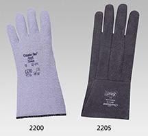 Graue Hitzeschutzhandschuhe ANSELL aus Filz mit Nitrilbeschichtung, 33 cm lang