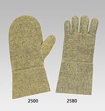 Hitzeschutz-Fausthandschuhe aus Aramid/Rayon-Filz, 35 cm lang