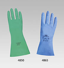 Blaue, leichte Nitril-Schutzhandschuhe MAPA, 30 cm lang