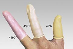 Beige Fingerlinge aus Naturlatex, Stärke 0,3 mm, 10 Stück/Beutel