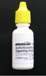 DIPRO DRUGLAB® Aufschlusslösung für die Substanztestung von THC und Opiate, 10x3 ml