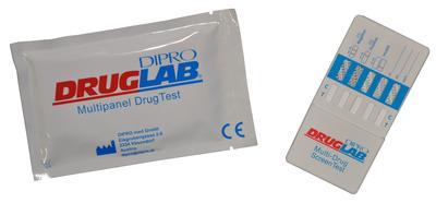 DIPRO DRUGLAB® MULTI DIP PANEL Multi 10 (AMP, BAR, BZD, COC, MTD, mAMP, MOP/OPI, PCP, TCA, THC), 25x