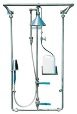 Zweistufen wandmontierte DekontaminationsduscheTyp: DEC-V-1Speziell für den Einsatz in Reinräumen