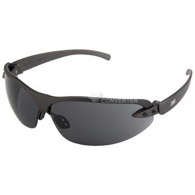 1200E Schutzbrille AS/AF/UV, PC, getönt, leicht, Rahmen schwarz, weicher Nasenbügel,