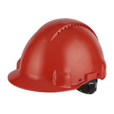 3M™ G3000 Schutzhelm G3000CUV-RD in Rot, belüftet, mit Uvicator, Pinlock und Kunststoffschweißband
