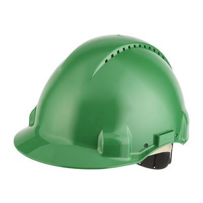 3M™ G3000 Schutzhelm G3000DUV-GP in Grün belüftet, mit Uvicator, Pinlock und Lederschweißband