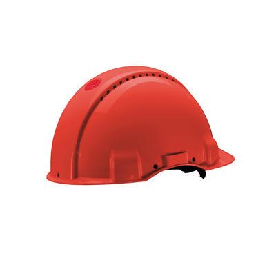 3M™ G3000 Schutzhelm G3000DUV-RD in Rot, belüftet, mit Uvicator, Pinlock und Lederschweißband