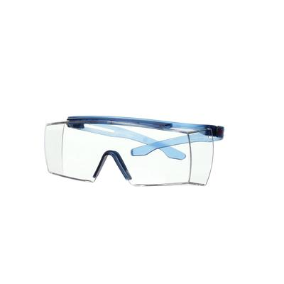 3M™ SecureFit™ 3700 Überbrille, blaue Bügel, kratzfest+ (K), transparente Scheibe, winkelverstellbar
