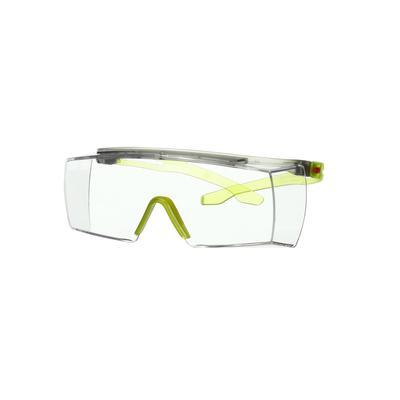 3M™ SecureFit™ 3700 Überbrille, lindgrüne Bügel, Scotchgard™ Anti-Beschlag Beschichtung (K&N), trans