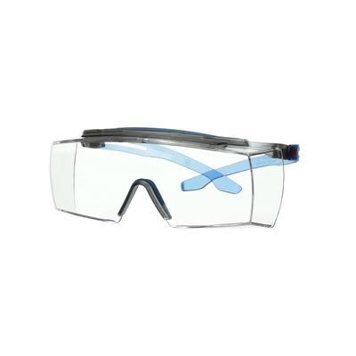 3M™ SecureFit™ 3700 Überbrille, blaue Bügel, Scotchgard™ Anti-Beschlag Beschichtung (K&N), graue Sch