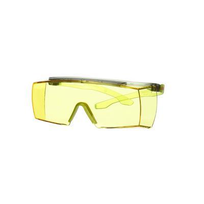 3M™ SecureFit™ 3700 Überbrille, lindgrüne Bügel, Scotchgard™ Anti-Beschlag Beschichtung (K&N), gelbe