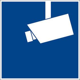 Video-Schild Hinweis Videoüberwachung