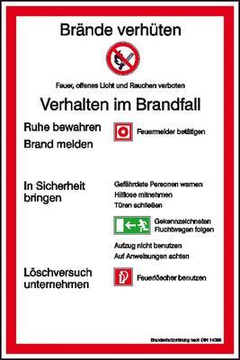 Aushang Brandschutzordnung Teil A gem. DIN 14096-1 Ausführung: Stadt München