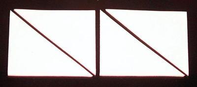 4 Klebepads aus synthetischem Kautschuk zur Montage von Aluminiumschildern