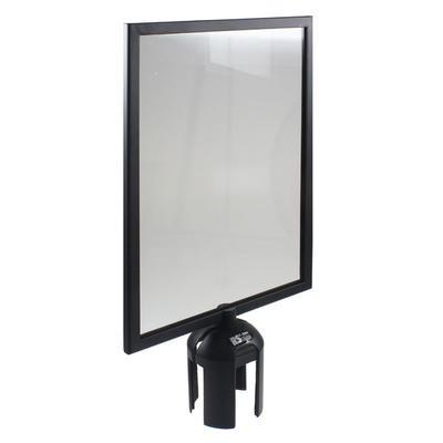 Absperrsysteme Zubehör Guide - Line, Schild A4 hoch, aus Kunststoff, Rahmenfarbe schwarz