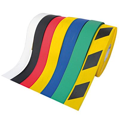 Bodenmarkierung / Band WT-500, gelb/schwarz, abgeschrägte Kanten, PVC, staplergeeignet, strapazierfä